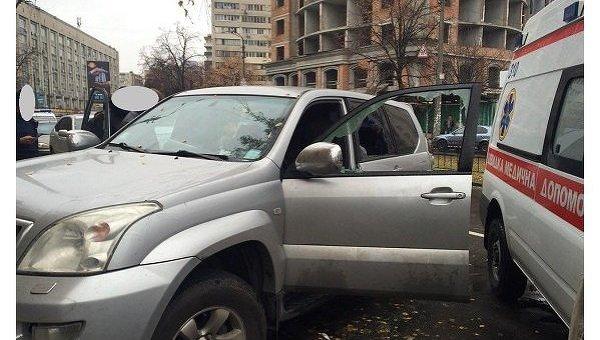 На месте разбойного нападения на Ванды Василевской в Киеве