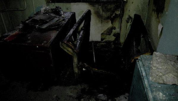 На месте пожара в бывшем офисе Правого сектора в Сумах