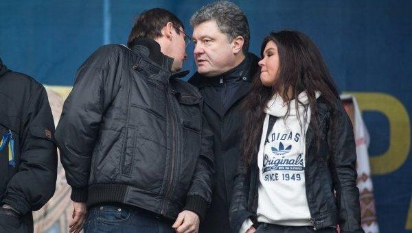 Игорь Луценко, Петр Порошенко и Руслана. Архивное фото