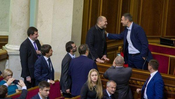 Борислав Береза и Виталий Кличко в Раде