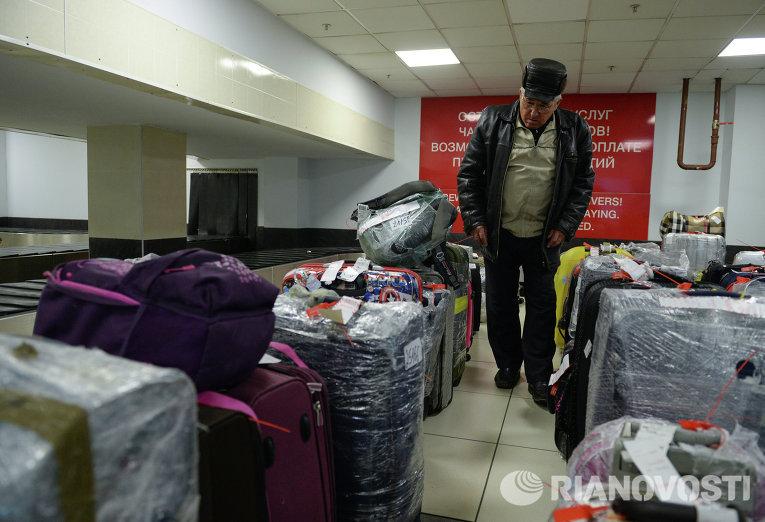 Выдача багажа туристам из Египта в Новосибирске