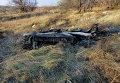 Место падения СУ-25 под Запорожьем