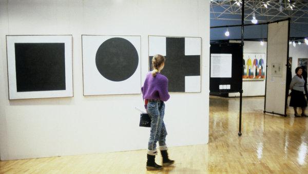На выставке Казимира Малевича