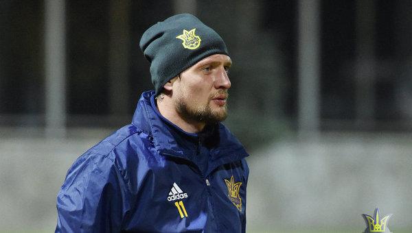 Игрок сборной Украины Евгений Селезнев. Архивное фото