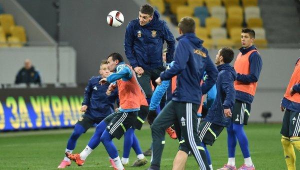 Тренировка сборной Украины. Архивное фото