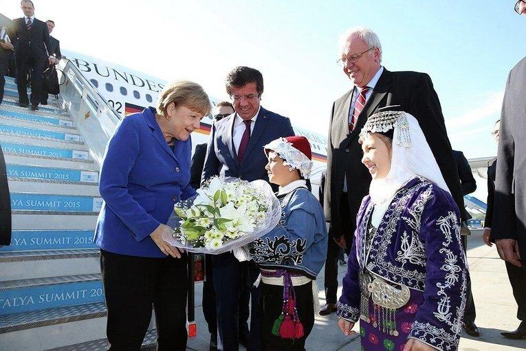 Лидеры стран G20 на саммите в Анталье