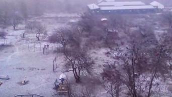 Первый снег в Житомире. Видео