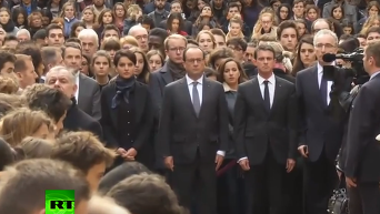 По всей Франции состоялась минута молчания в память о жертвах терактов в Париже