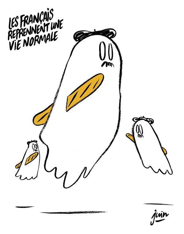Карикатура Charlie Hebdo на теракты в Париже