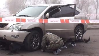 Взрыв Lexus в Киеве: оперативная съемка. Видео