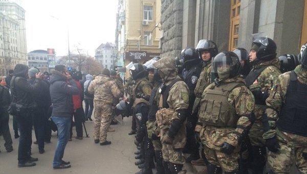 Ситуация возле городского совета Харькова