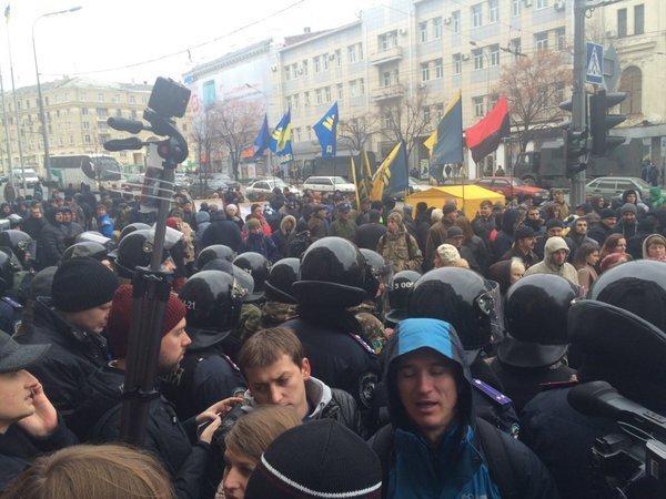 Протесты под зданием горсовета Харькова