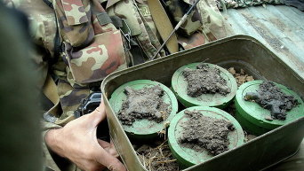 Противопехотные мины черная вдова. Архивное фото