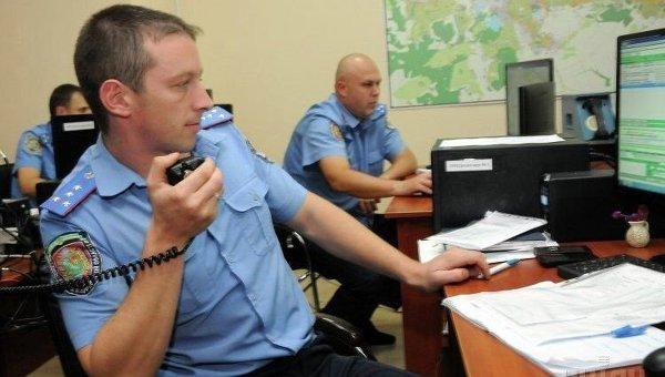 Работа украинских полицейских. Архивное фото