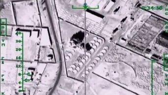 Бомбежка нефтебазы и бензовозов Исламского государства в Сирии