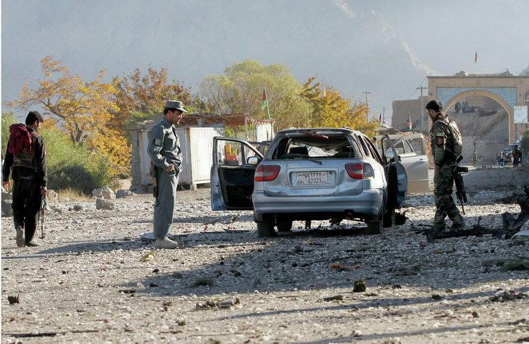 На месте теракта в Кандагаре, Афганистан