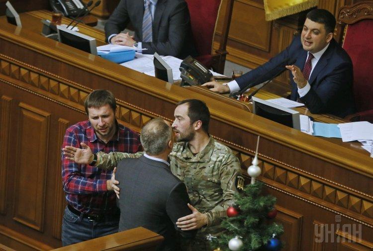 Потасовка в Верховной Раде с участием Владимира Парасюка