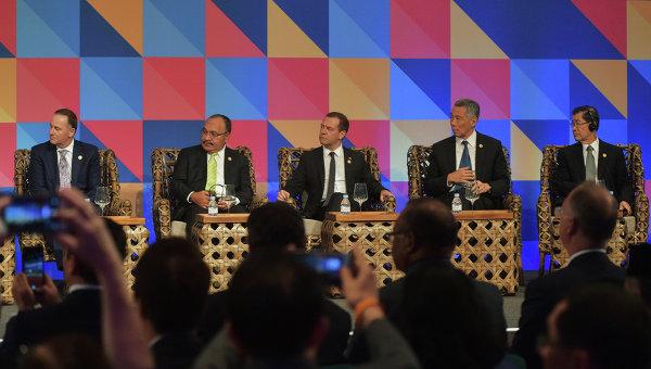 Председатель правительства РФ Д.Медведев принимает участие в форуме АТЭС на Филиппинах