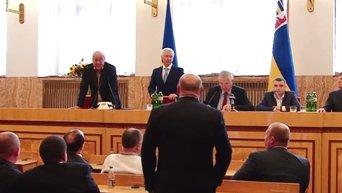 Первое заседание сессии Закарпатского областного совета и Геннадий Москаль