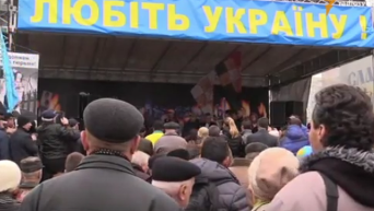 Народное вече на Майдане Незалежности 22 ноября. Видео