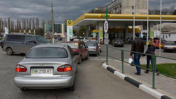 ВКрыму заморозили цены набензин