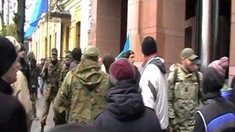 Штурм офиса компании СКМ в Киеве