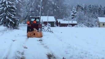 Снегопады в Финляндии