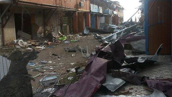 Разрушения в Широкино