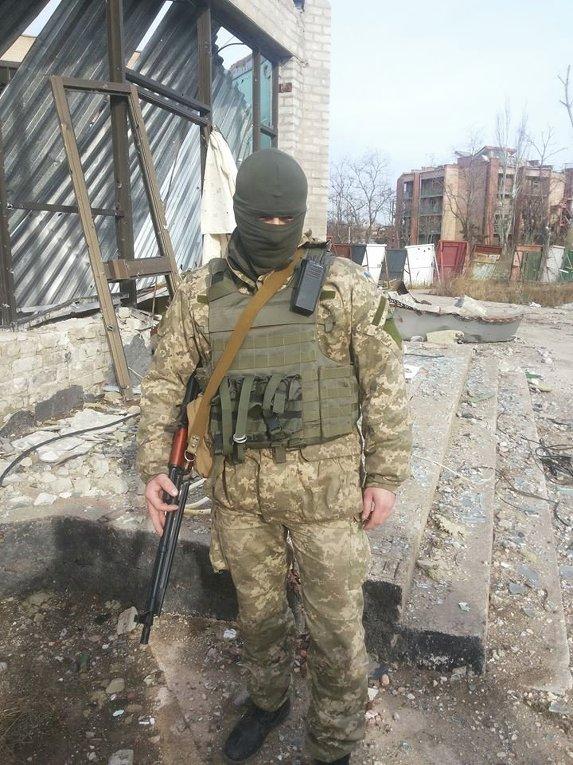 Боец сил АТО в Широкино