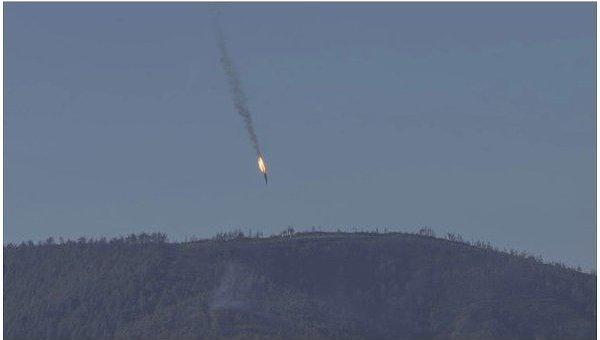 Крушение российского Су-24 на границе Сирии и Турции