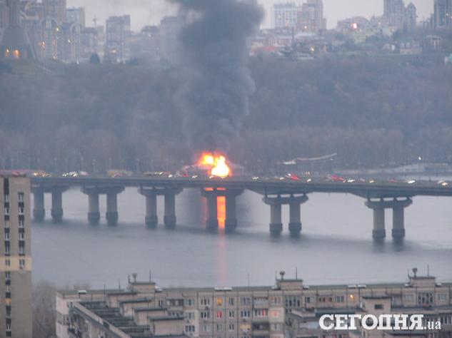 Пожар в киевском ресторане Веранда на Днепре