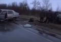 Лобовая авария на трассе под Мариуполем