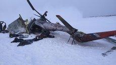 Место падения Ми-8 в Красноярске
