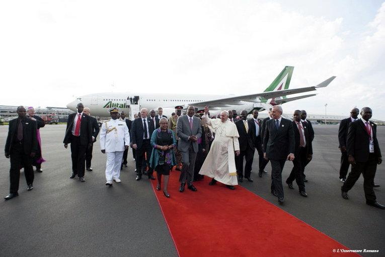 Прибытие Папы Франциска в Кению