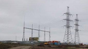 Строительство энергомоста в Крым. Видео