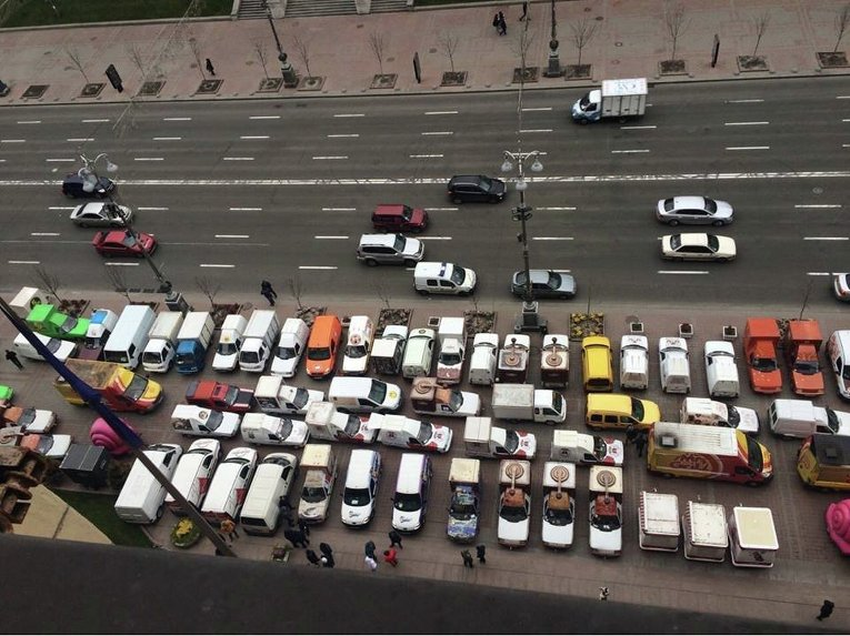 Митинг владельцев автокофеен в Киеве