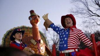 Парад ко Дню благодарения в США. Архивное фото