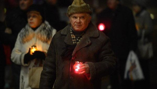 Украинцы почтили память жертв Голодомора