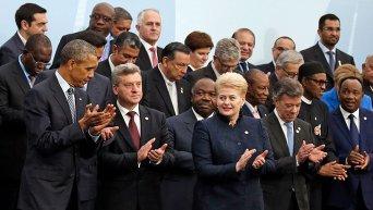Мировые лидеры на Климатической конференции ООН в Париже