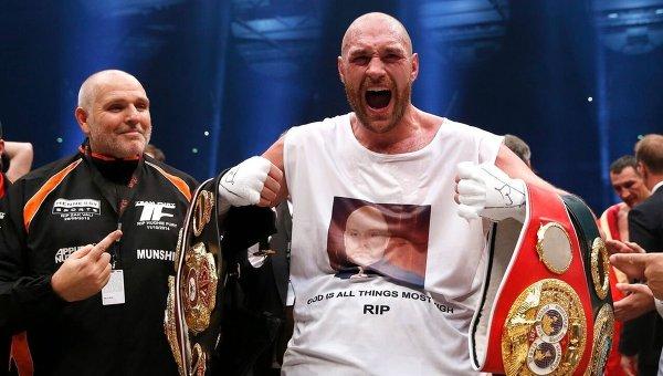 Пресс-конференция абсолютного чемпиона по боксу в супертяжелом весе Тайсона Фьюри. Архивное фото