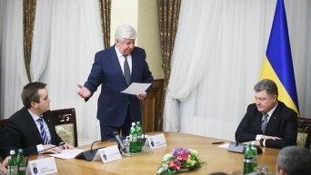 Назар Холодницкий, Виктор Шокин и Петр Порошенко