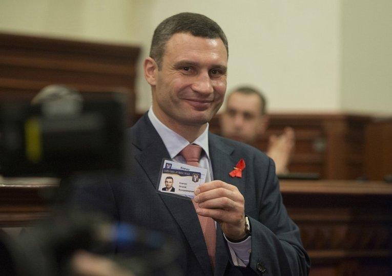 Мэр Киева Виталий Кличко на первом заседании Киевсовета восьмого созыва