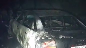 Пожар в подземном паркинге в центре Киева