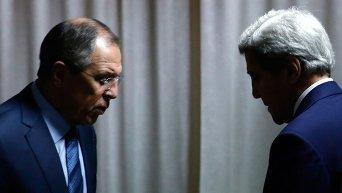 Глава МИД России Сергей Лавров и госсекретарь США Джон Керри.