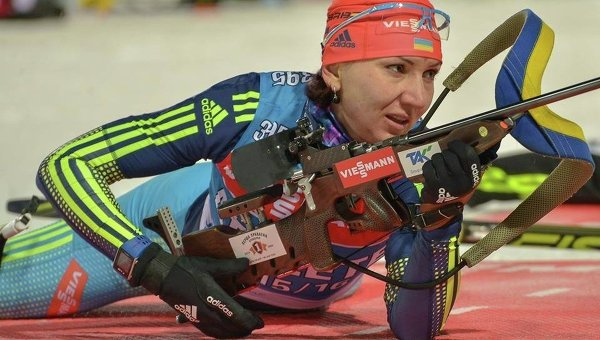 Украинская биатлонистка Елена Пидгрушная. Архивное фото