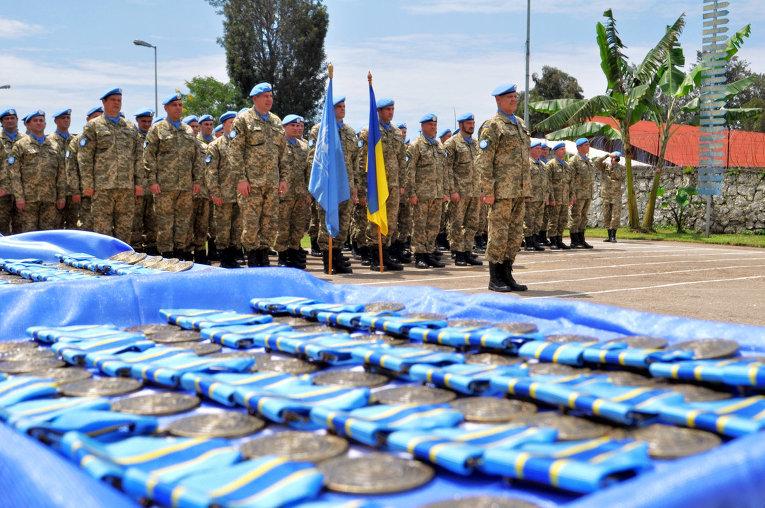 В Конго украинскому подразделению вручили медали ООН За службу миру