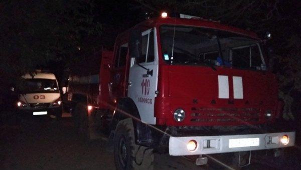 Пожарный автомобиль МЧС РФ. Архивное фото