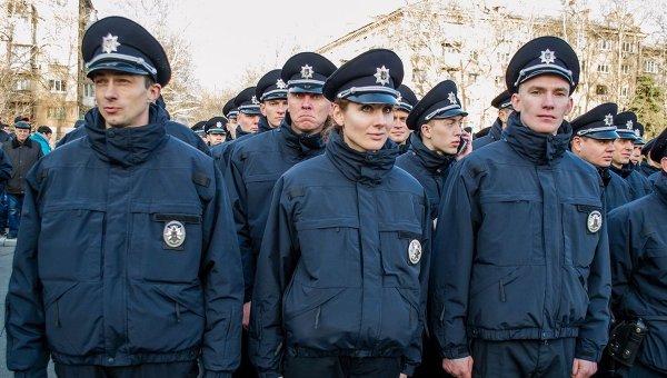 Присяга патрульной полиции в Николаев
