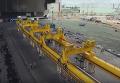 Строительство арки над поврежденным реактором ЧАЭС: кадры с беспилотника. Видео