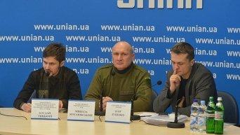 Участники пресс-конференции Цели и задачи Добровольческого Движения ОУН